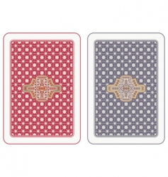 playing cards design vector image