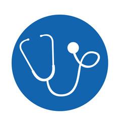 round icon stethoscope cartoon vector image vector image