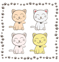 smiling cats vector image