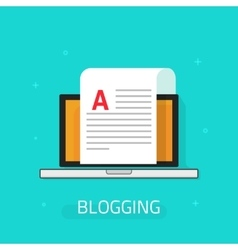 Blogging icon isolated on blue background vector image