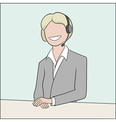 callcenter operator vector image vector image