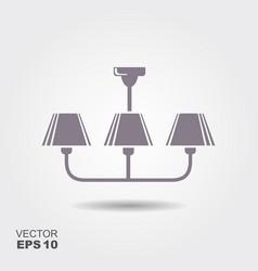 chandelier flat icon vector image vector image