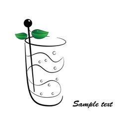 Cocktail with mint vector image vector image