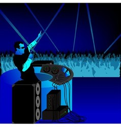 Disc Jockey and Audience vector image vector image