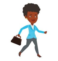 Happy businesswoman running vector image vector image