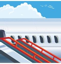 modern jet airliner vector image vector image