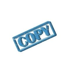 Rectangular stamp copy vector image vector image