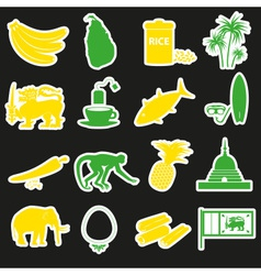 Sri-lanka country symbols color stickers set eps10 vector image vector image