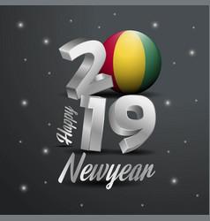 2019 happy new year guinea flag typography vector