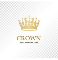 a big golden crown vector image