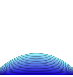 Abstract background from blue curves - poster vector