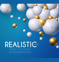 abstract background with rtalistic 3d structure vector image
