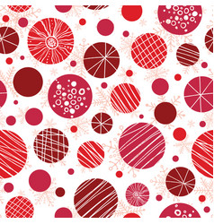 Abstract red hand drawn christmass vector