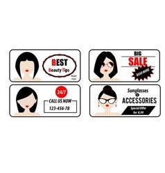 Advertisement banners templates with woman avatars vector image