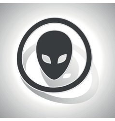 Alien sign sticker curved vector image