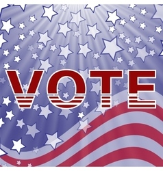 American Vote vector image