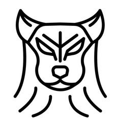 Animal wolf icon outline style vector