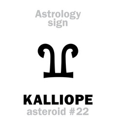 astrology asteroid kalliope vector image