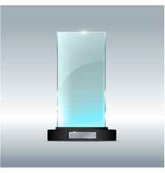 award glass trophy of on a vector image