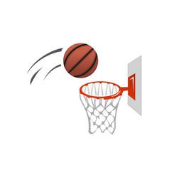 Basket ball and basket vector