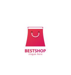 best shop logo vector image