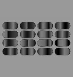 Black dark shiny gradient set vector