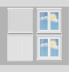 Blind window curtains realistic mockup set vector