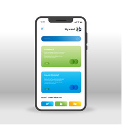 blue and green online banking ui ux gui screen vector image