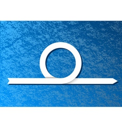 blue background with white arrow vector image
