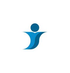 blue man icon letter y logo element vector image