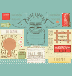 burger placemat vector image