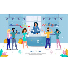 calmness in stressful work flat banner vector image