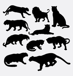 Cheetah panther leopard lion silhouette vector
