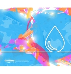 Creative water drop Art vector