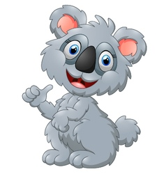 Cute koala cartoon presenting vector