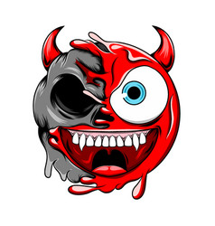 devil death skull change to be bad evil red vector image