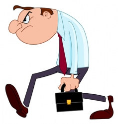 disappointed businessman vector image