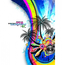 disco dance flyer vector image vector image