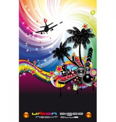 Disco flyer Latin style vector