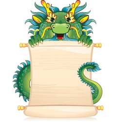 Dragon with scroll - symbol of Chinese horoscope vector