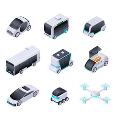 driverless cars future smart vehicles unmanned vector image