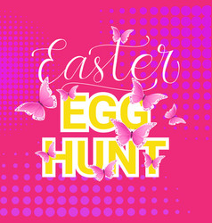 egg hunt easter holiday tradition poster vector image