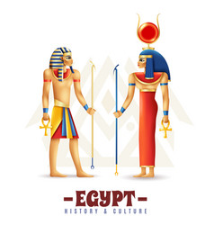 egypt history and culture design concept vector image
