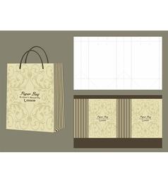 elegant and minimalist paperbag vector image