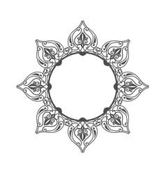 flower circular ethnic ornament symbol design vector image