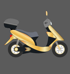 gold scooter icon of a gold vector image