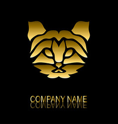 golden cat symbol vector image