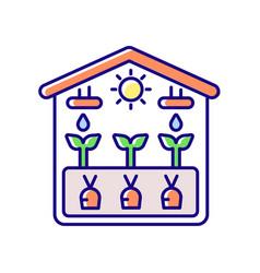 Greenhouse rgb color icon vector