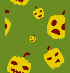 Halloween festive pattern endless background with vector