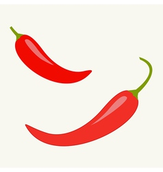 Hot red chili jalapeno pepper icon set isolated vector